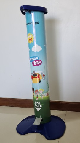 Totem Dispenser Álcool Gel Pedal Infantil Criança - Foto 2