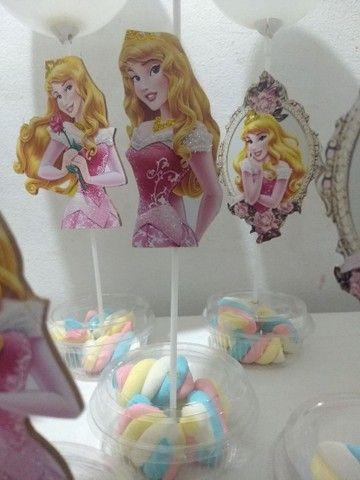 centro de mesa princesa Aurora Bela adormecida - Foto 6