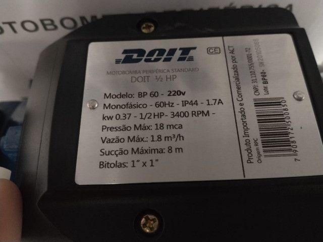 Bomba Centrifuga de água 1/2Cv Periférica - Foto 3