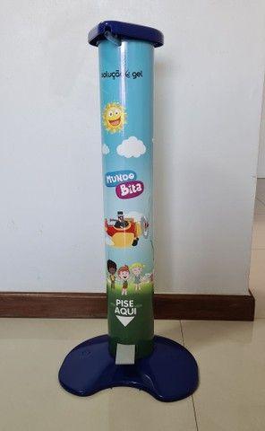 Totem Dispenser Álcool Gel Pedal Infantil Criança - Foto 3