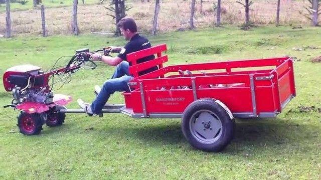 Vendo Motocultivador/Tratorito Toyama com carretinha Buffallo  - Foto 4