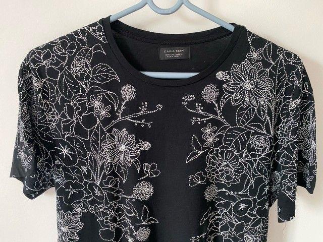 Camiseta zara preta - Foto 2