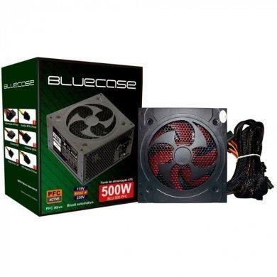Fonte Bluecase 500w Real / PFC Ativo / ATX - Novo