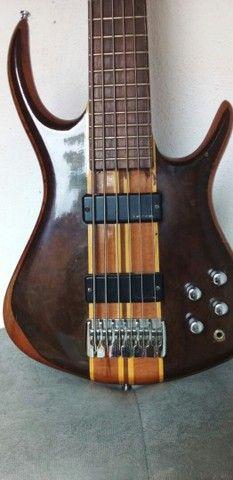 Vendo Contrabaixo de luthiê de 6 cordas  - Foto 3