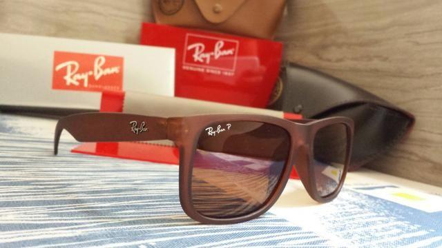 fb9c21db486aa Óculos Rayban Justin 4165 Polarizado-Motoboy em POA e região ...
