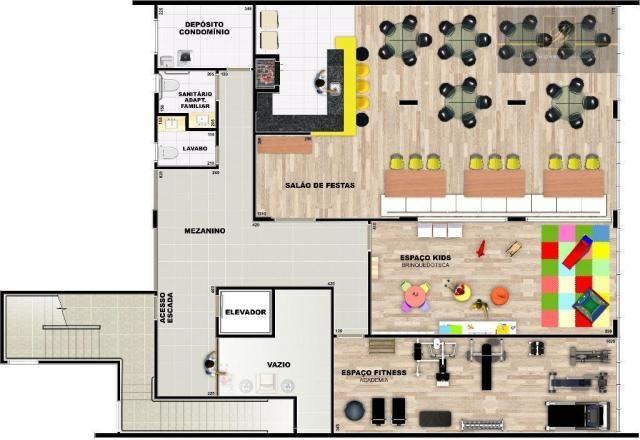 Apartamento com 1 dormitório à venda, 58 m² por R$ 289.425 - Santo Antônio - Joinville/SC - Foto 13