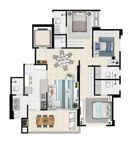 Apartamento de 3 quartos com 3 suítes no Setor Bueno - Foto 7