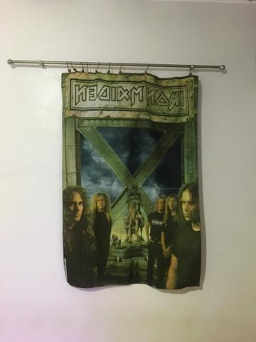 Banner de tecido do Iron Maden vem com a haste devimos e pregadores - Foto 5