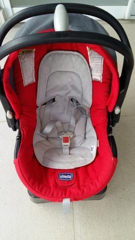 Vendo carrinho de bebê + bebê conforto + suporte para carro - Foto 5