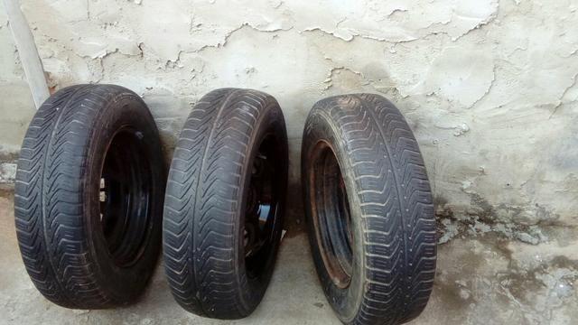4 pneus completos - Foto 3