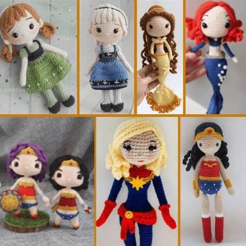 Free Amigurumi Dolls Crochet Patterns   Bonecas de crochê ...   480x480