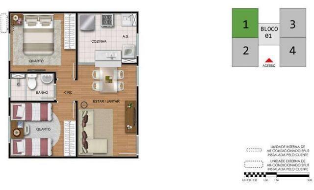 Residencial Atalaia- 39m²- Araraquara- SP- ID3782 - Foto 6
