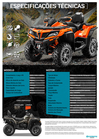 Quadriciclo CForce 800, marca CFMoto Usado - Foto 5