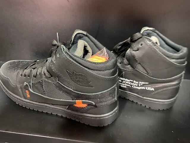 Tênis Nike Jordan off White preto 41 - Foto 2