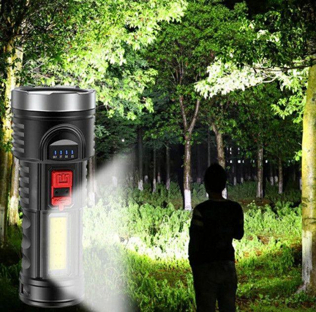 Lanterna Led Recarregável Claro Lateral Com Bateria Embutida - Foto 5