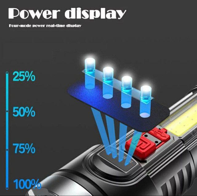 Lanterna Led Recarregável Claro Lateral Com Bateria Embutida - Foto 3