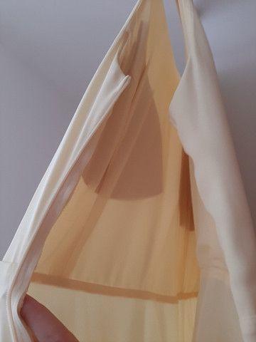 Vestido longo amarelo claro - Foto 2