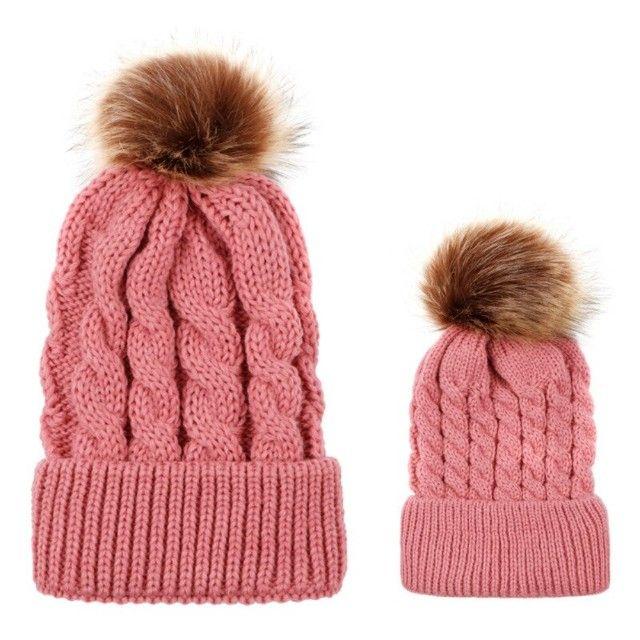 Chapéus de algodão de malha infantis, chapéus quentes e confortáveis de algodão - Foto 5