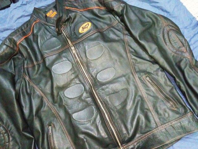 Jaqueta em couro legítimo - Foto 4