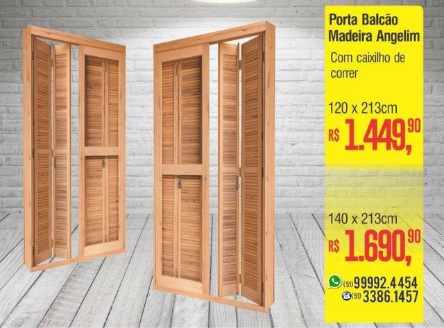Porta Balcão Madeira Mista e Angelim - Foto 2