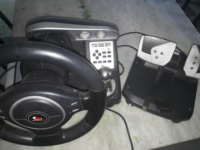 Kit de volante e pedal para PC e videogame - Foto 6