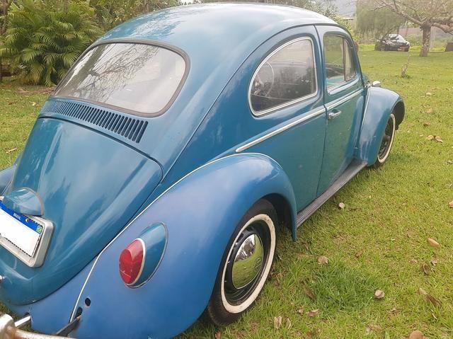Fusca antigo 65 1965 azul relíquia - Foto 4