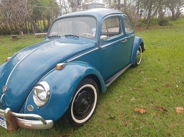 Fusca antigo 65 1965 azul relíquia - Foto 6
