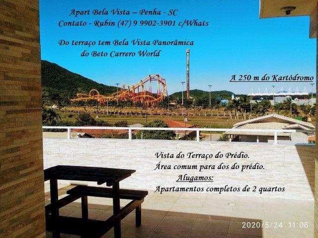 Apartamento 4 - com Vista do Beto Carrero World Penha SC - Foto 2