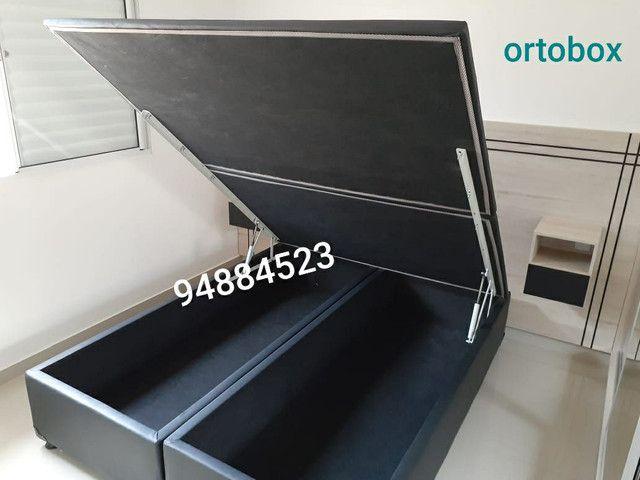 Box baú (158×198×41)queen size bi partido direto da fábrica.