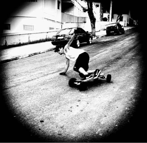 Skate carveboard; carve board; longboard; long board  - Foto 3