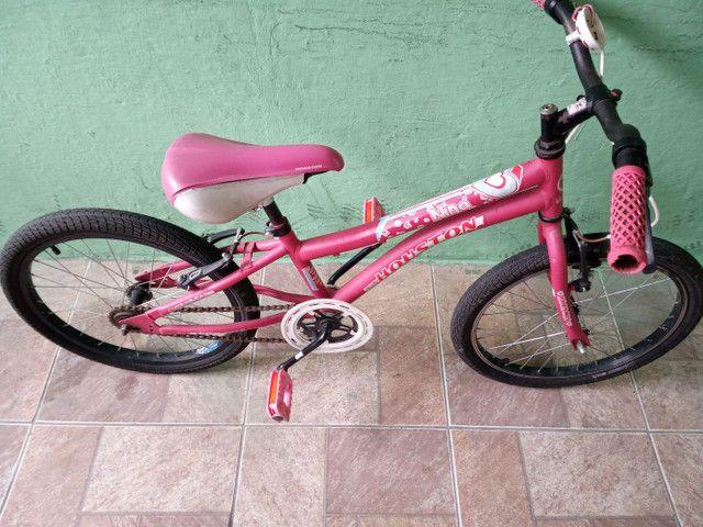 Bicicleta aro 20 rosa - Foto 4