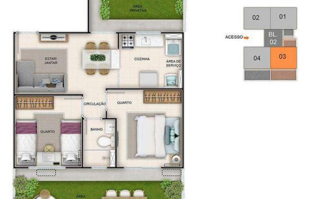 Eco Way Eusébio - 40m² - Apartamento 2 quartos em Eusébio, CE - ID3866 - Foto 9