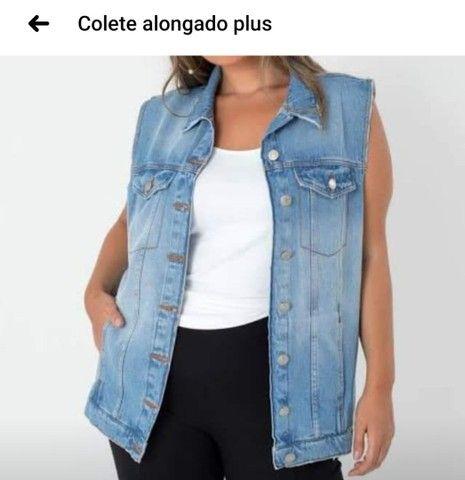 Colete Alongado Plus Size - Foto 3