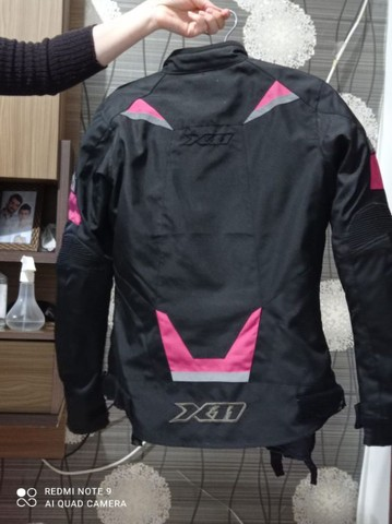 Jaqueta X11 Iron 2 Impermeável Nylon Motociclista Feminina - Rosa - Foto 3