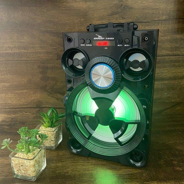 Caixa de Som Alto Falante Potente Bluetooth  - Foto 4