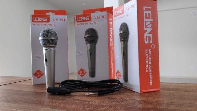 Microfone Profissional P10 com Esfera em Metal e Cabo 2.5 Metros - Foto 5
