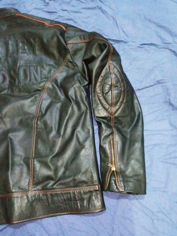 Jaqueta em couro legítimo - Foto 6