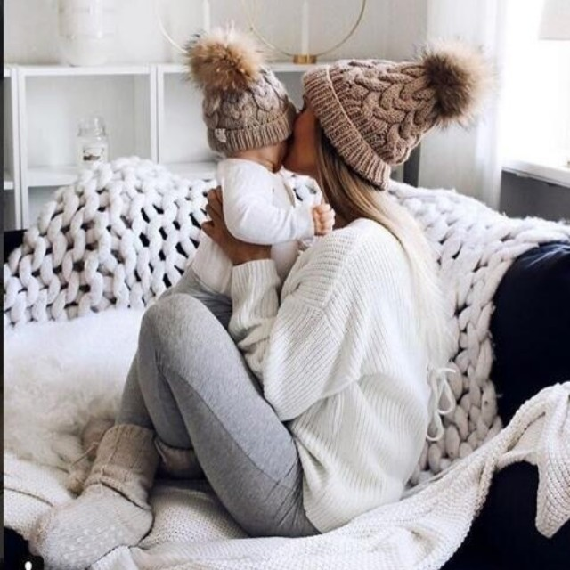 Chapéus de algodão de malha infantis, chapéus quentes e confortáveis de algodão - Foto 3
