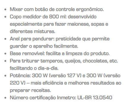 Mixer Arno com Multiprocessador 300W 110V - Foto 3