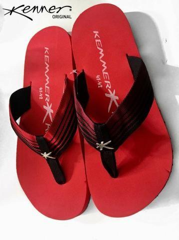 5f164d874 Chinelo Sandália Kenner Masculino Vermelho Novo - Roupas e calçados ...
