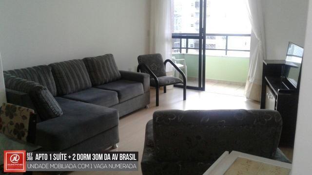 A 30M DA AV. BRASIL - 1 SUÍTE + 2 DORM - MOBILIADO!