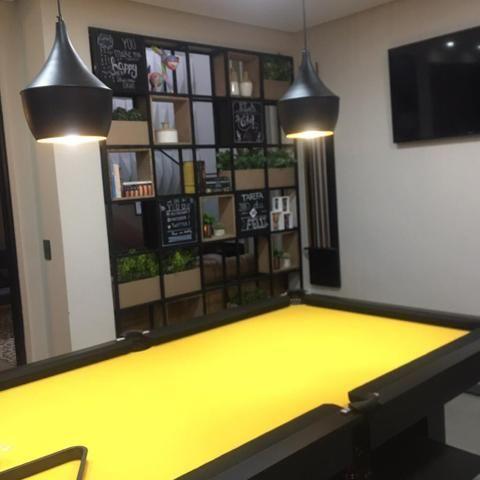 Mesa de Bilhar Cor Preta Tecido Amarelo Tx Pés Centrais Modelo ENN0453 - Foto 6