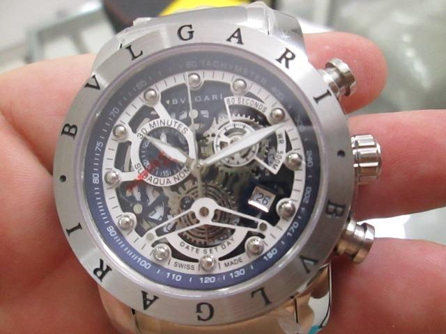 79e13af0beb Relógio Bvlgari modelo nuclear mostrador claro novo sem muito bonito