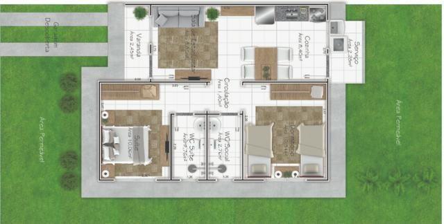 Casa térrea, 2 quartos, sendo 01 suíte, Condomínio Athenas - Foto 12