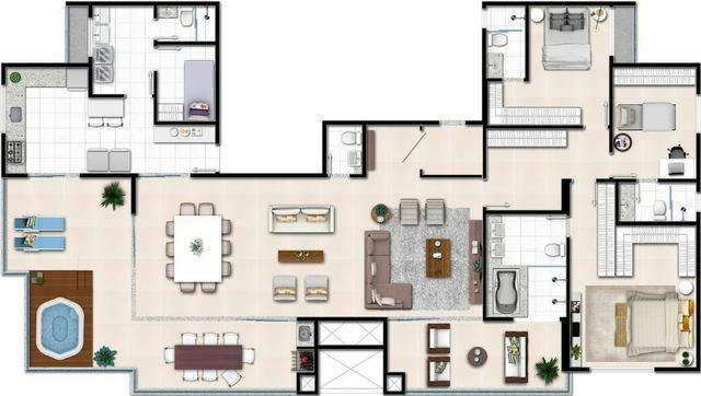 Apartamento de 3 quartos com 3 suítes no Setor Bueno - Foto 2