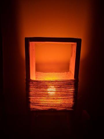Luminária rústica para decoração
