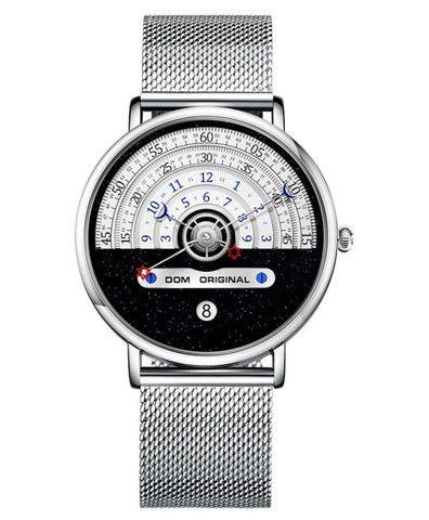 Dom M-1288 Relógio De Moda Masculina Criativa 3atm - Foto 2