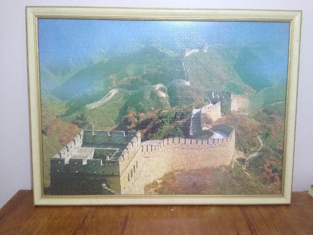 Quadro Quebra-cabeça Muralha da China - Foto 5