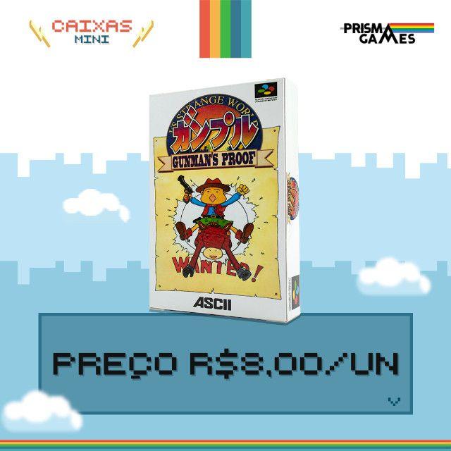 Caixa Mini Para Jogos - Super Famicom - Foto 4