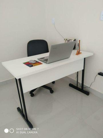 Kit mesa em MDF 120x60 e cadeira giratória por 379. - Foto 2